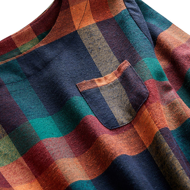 2020 New Plus Size Plaid Dress Women O-neck  Long Sleeve Loose Pullovers Streetwear Mini Dress Casual Womens 6