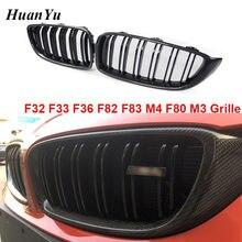 Решетка радиатора из углеродного волокна F32 F33 F36 F80 M3 F82 M3 F83 M4 ABS передний бампер гоночный гриль для BMW 4 серии 428i 440i 435i 2014 +