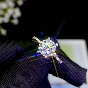 Image 5 - Moissanite 성격 디자인 새로운 반지, 925 순은, 아름다운 색깔, 번쩍이는, 1 캐럿 2 캐럿 다이아몬드 d vvs1