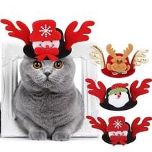 Cat Hat Costume-Cap Party-Hat Funny for Christmas-Dressing-Up Dogs Elk Pet-Dog Santa-Snowman
