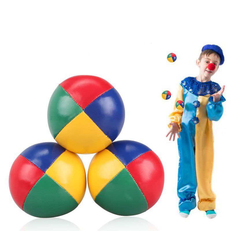 Clown Professional Juggling Ball Acrobatics Toss Ball Educational Toy Children Sports PU Leather Soft Stage Performance For Boy