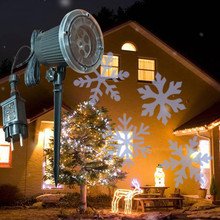 Christmas Snowfall Star Projector Lights Indoor Outdoor Holiday with Remote Control Rotatable White Snow for Halloween