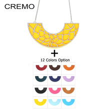 Cremo Delicate Chain Necklace Interchangeable Reversible Leather Pendant Charm Necklaces & Pendants for Women Statement