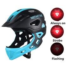 Детский велосипедный шлем с задним фонарем