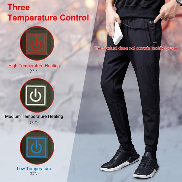 Intelligent Heated Warm Trousers Pants Carbon Fiber Heating Large Size Pants for Men and Women Winter Outdoor Cycling 2