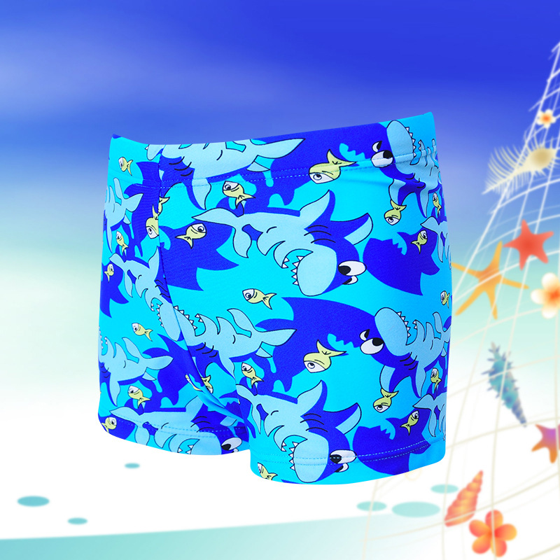 Cartoon Underwater World CHILDREN'S Swimming Trunks Boxer Swimming Trunks BOY'S Swimming Trunks Boy Swim Short