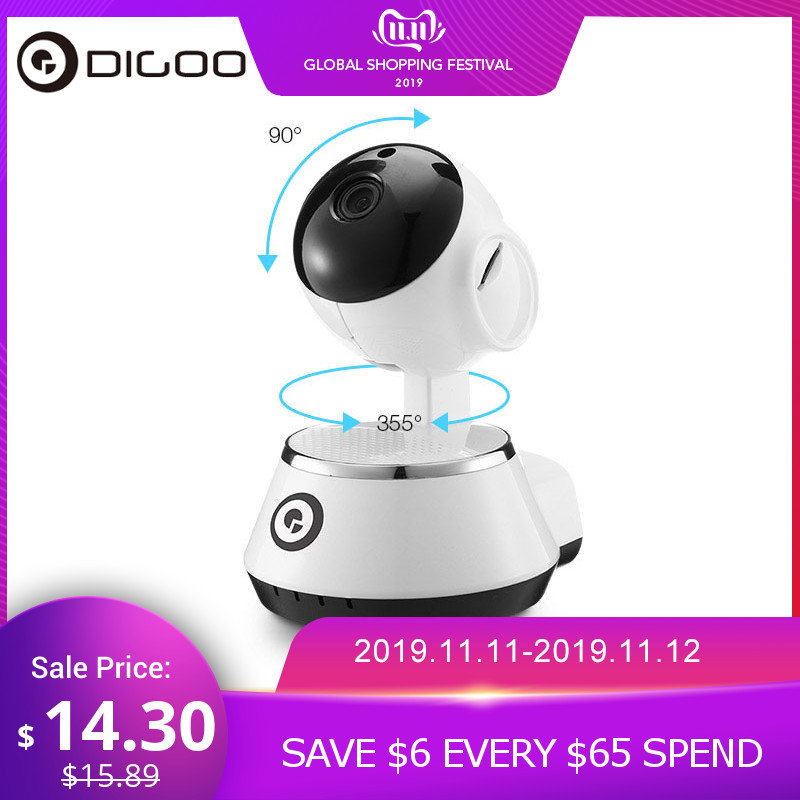 DIGOO BB-M1 Home Security IP Camera 720P Draadloze Smart WiFi Camera WI-FI Audio Record Surveillance Babyfoon HD CCTV-camera