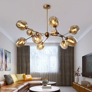 Image 4 - โมเดิร์นโคมไฟระย้าโคมไฟตกแต่งบ้านห้องรับประทานอาหารHanglamp luster Creativeห้องนั่งเล่นSimpleโคมไฟระย้าLED LIGHT
