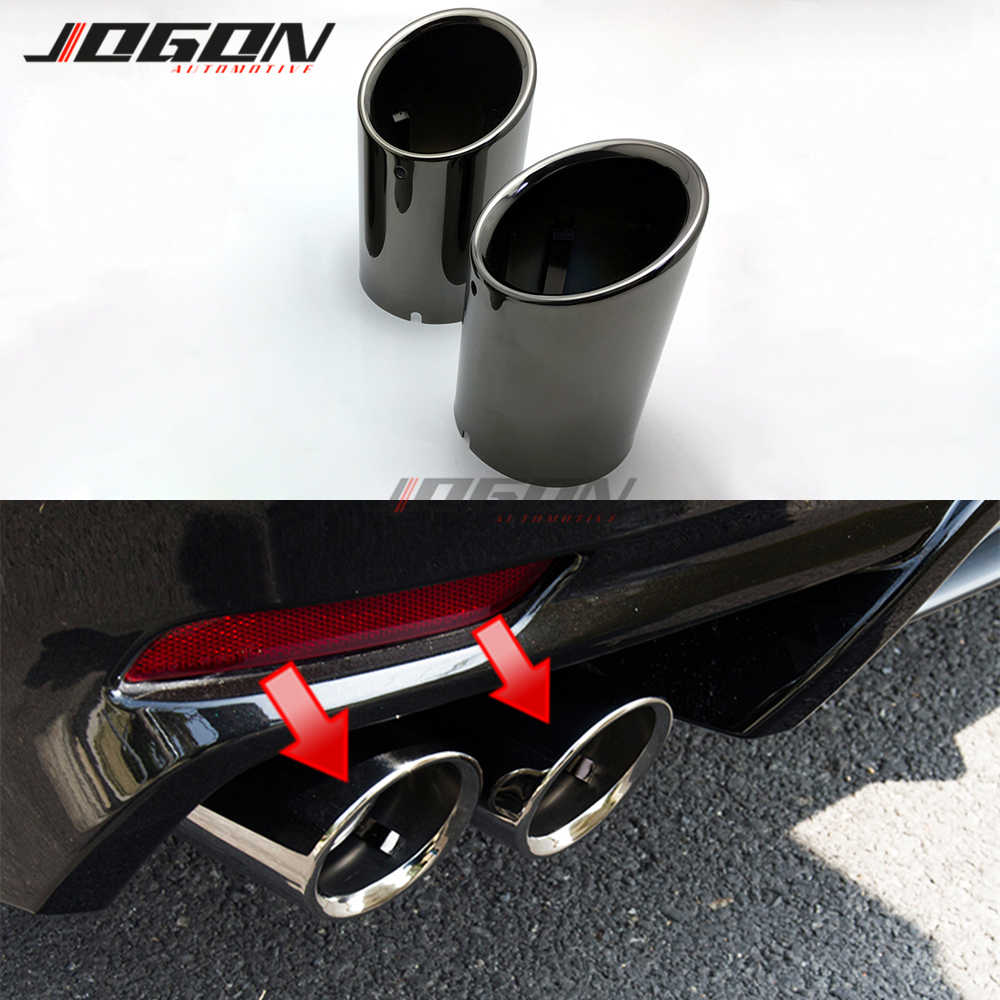 car rear tail end pipe exhaust muffler trim accessories for toyota camry xv70 2018 se xse sports stainless steel