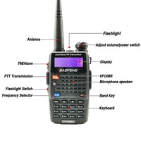 baofeng uv 5r uv 2pcs Baofeng UV-5RC מכשיר הקשר Dual Band VHF UHF ציד רדיו CB Ham Radio Commmunicator Baofeng UV-5R פלוס Woki טוקי 10 KM (2)