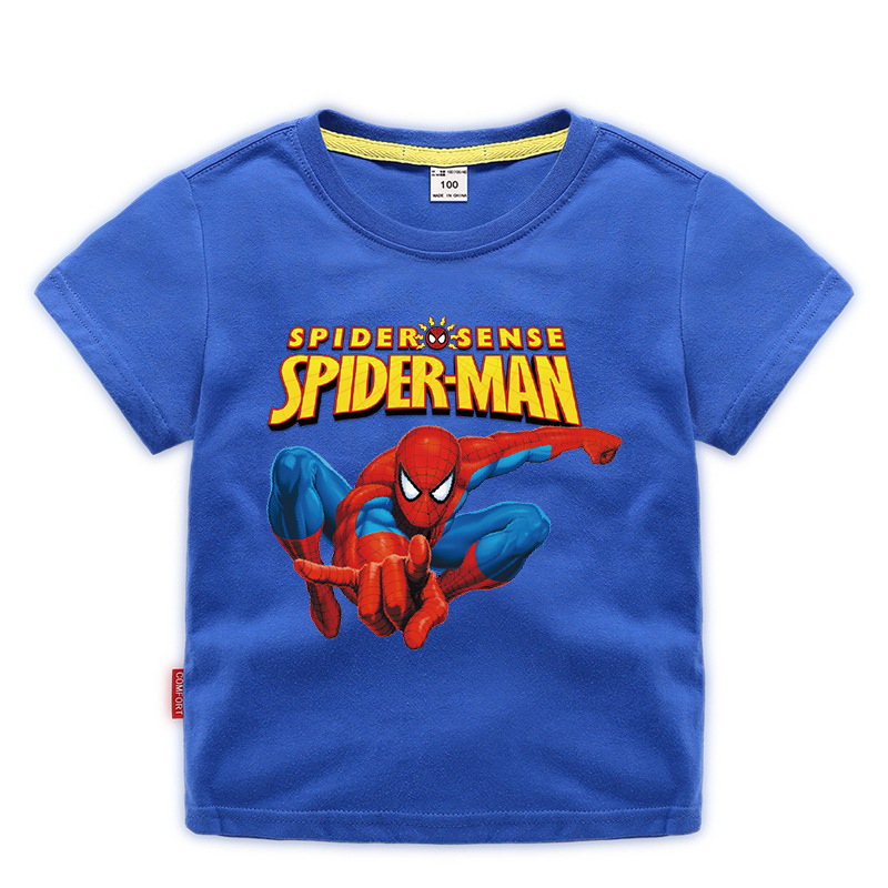 Disney Baby Spiderman T-shirt Childrens Boys Top Girls Cotton Clothing T-shirt Kids Cartoon Short Sleeve Tee Clothes Summer 2020 3