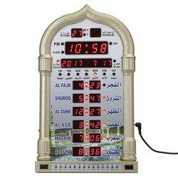Азан мечеть молитвенные часы исламская мечеть азан календарь мусульманская молитва настенные часы Будильник Рамадан домашний декор + пуль...