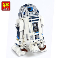Star Wars Force Awakens Genuine R2 D2 Robot Set Building Blocks Bricks Compatible legoinset 10225 05043 Kid Educational toys