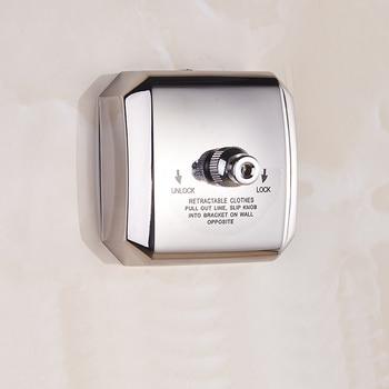 Draagbare Waslijn Intrekbare 304 Roestvrij Staal Kleding Droogrek Touw Badkamer Organizer Wasserij Hanger Wasdroger