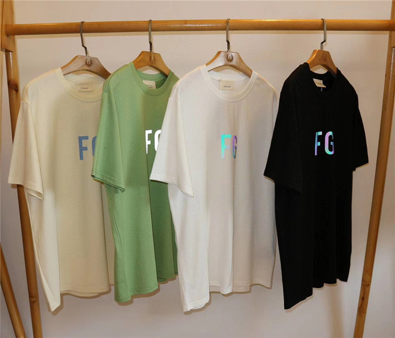 3M Reflective FOG Essentials T-Shirt Mens Wome Casual 1:1 FG Latter Summer Style Essentials T Shirts Top Tees