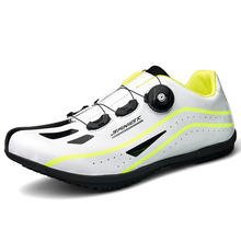 Cycling-Shoes Bike Road-Racing Riding Breathable White Sport Red Man Men Big-Size