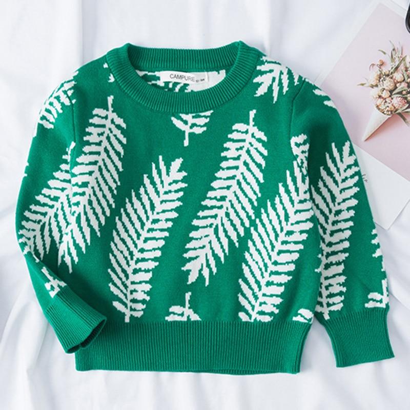 1-6Yrs New 2020 Boy Girl Long Sleeve Loving Heart Knitted Sweater Autumn Winter Boys Girls Sweaters For Baby Girls Kids Sweater 25