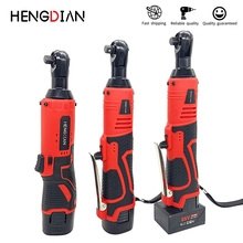 Cordless Electric Ratchet Wrench Portable Multifunctional 3/8 Inch Ratchet Wrench 90 Degree Cordless Angle Drill