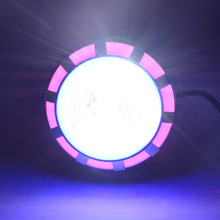 BMBY-мотоциклетный прожектор, головной светильник с двойным ангельским дьявольским глазом, светодиодный светильник для вождения с розовым и синим 30 Вт 1200лм 200000 ч(розовый и синий