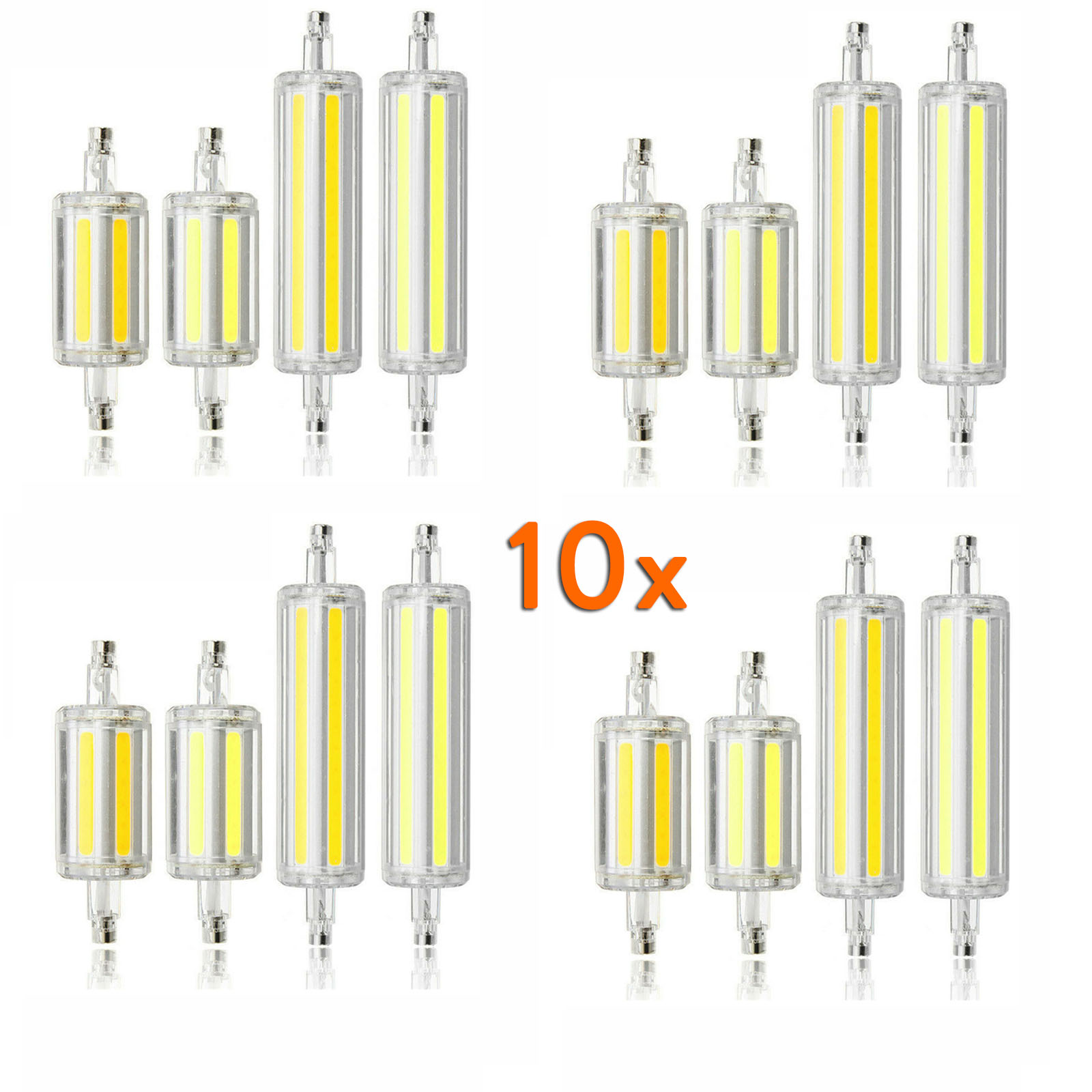 10x New Ampoule <font><b>R7S</b></font> <font><b>LED</b></font> Dimmable Flood Light J78 J118 78mm <font><b>118mm</b></font> 10W 20W COB Spotlight Corn Bulb Lamp 110V 220V <font><b>Bombillas</b></font> Lamps image