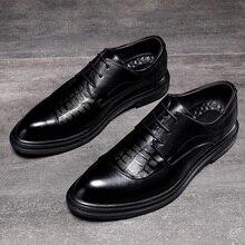 Formele Schoenen Heren Flats Schoenen Casual Britse Stijl Business Mannen Oxfords Party Trouwjurk Schoenen Voor Mannen