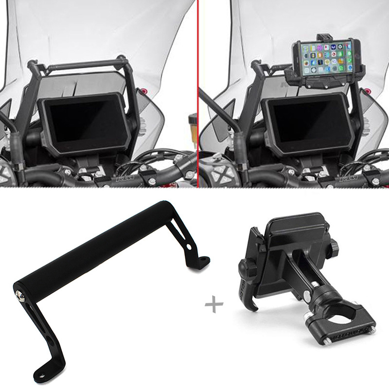 Phone Holder 22mm Handle Bar Bracket for <font><b>KTM</b></font> Duke <font><b>1290</b></font> <font><b>Super</b></font> <font><b>Adventure</b></font> <font><b>S</b></font> R 2017 2018 <font><b>2019</b></font> GPS Navigation Mount Bracket Plate image