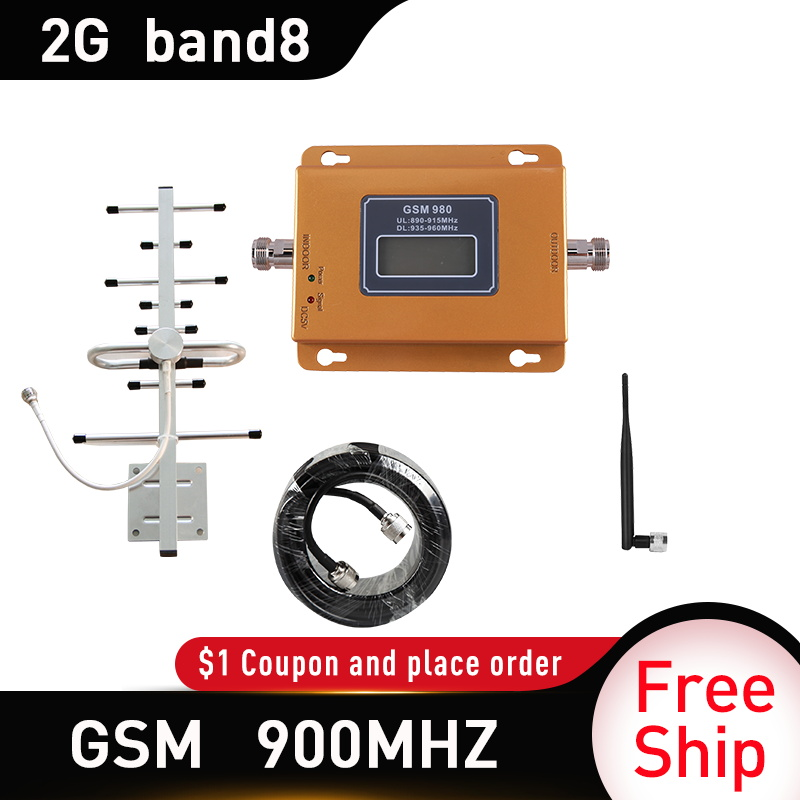 GSM 900 2g Repeater UMTS 900Mhz 3G Repeater Celular Mobile Phone Signal Repeater Booster 900MHz GSM Amplifier Whip Antenna