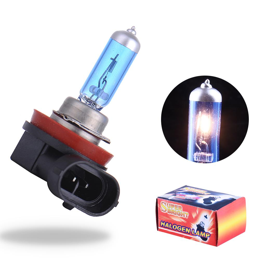 Universal 2Pcs Fog Light Bulb 12V 55W 5000K H11 Socket Lamp Super White Auto Head Lamp H11 Car Styling For Car Headlight Bulb