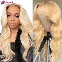 13x4 613 Honey Blonde Lace Front Wigs Brazilian Wig Remy Hair Body Wave Wig Pre Plucked Glueless Human Hair Wigs for Black Women