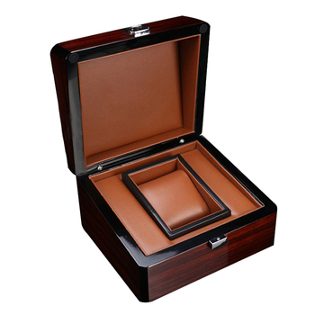Premium Wooden Watch Box Single Gird Holder with Removable Cushion Showcase Jewelry Storage - discount item  44% OFF Watches Accessories