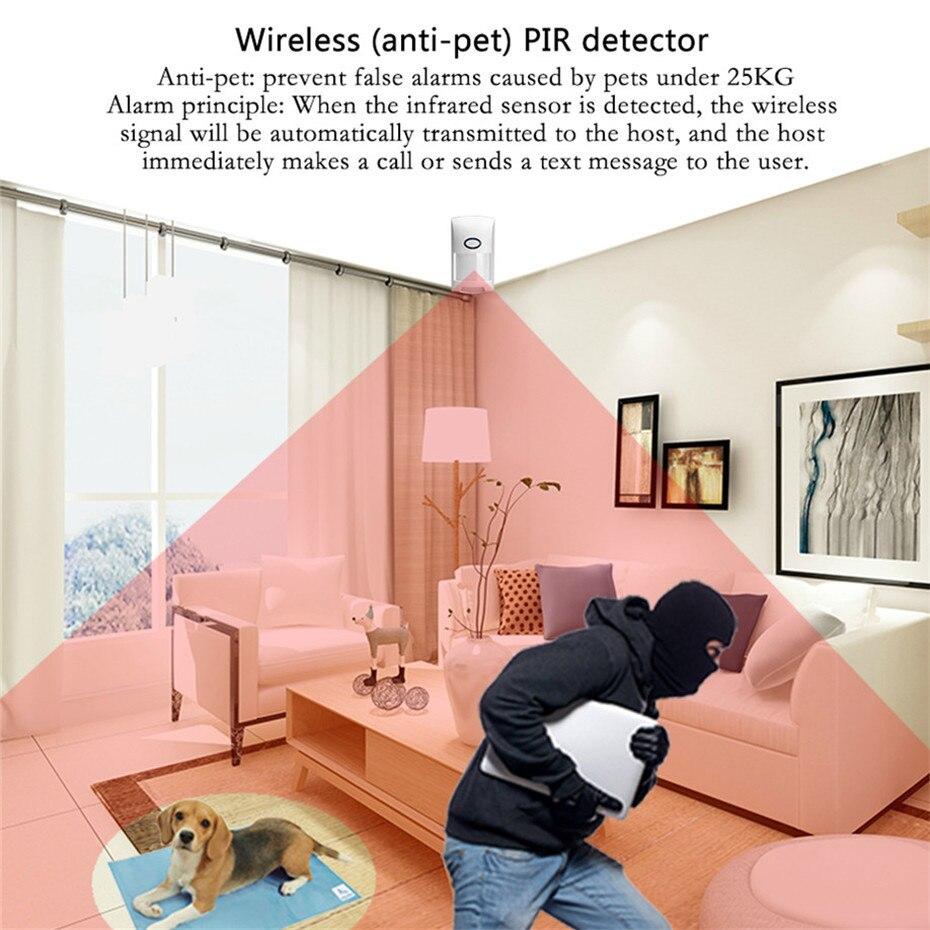 2019 GSM Burglar Alarm System APP Remote Control Smart Home Intelligent 2.4 inch Touch Panel GSM GPRS Wifi Alarm Security System Pakistan