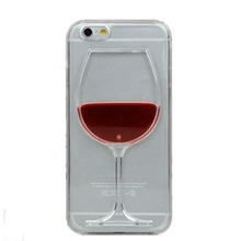 Clearance 3D Liquid Cocktail Bottle Flow Red Wine Phone cases For