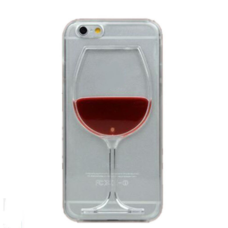 Clearance 3D Liquid Cocktail Bottle Flow <font><b>Red</b></font> Wine Phone <font><b>cases</b></font> For <font><b>iphone</b></font> <font><b>6</b></font> <font><b>6</b></font> <font><b>Plus</b></font> phone Cover image