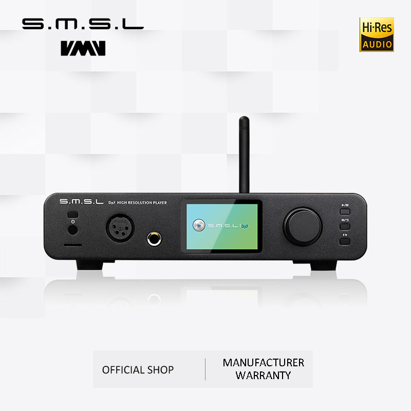 SMSL DP3 DAC ES9018Q2C USB Decoder Amplifier Balanced Digital Bluetooth4 0 LAN Network WIFI DSD Coaxial Optical DAC Audio AMP in Digital to Analog Converter from Consumer Electronics