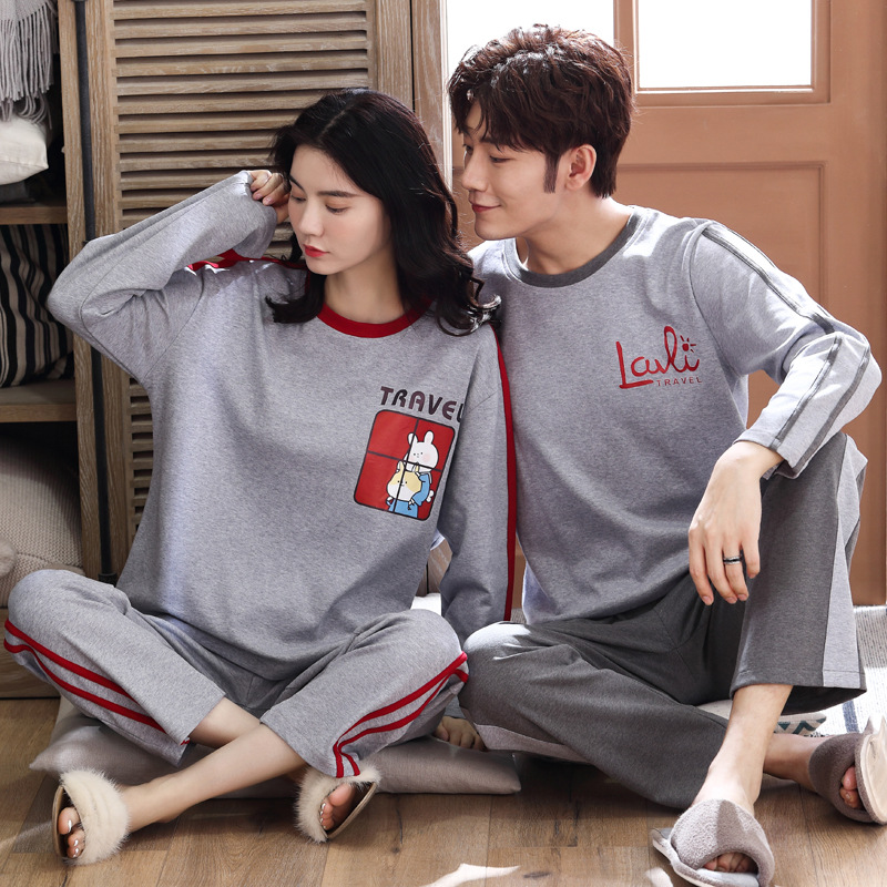 Wontive Home Furnishing Serve Autumn Long Sleeve Pijama Set For Male Sleep Clothing Casual Nightie Sleepwear Men Pyjamas Suit
