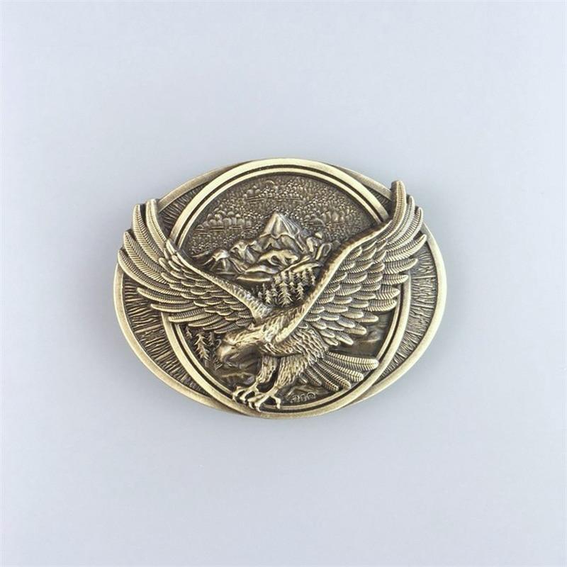 Eagle in Flight Bronze Metal Belt Buckle