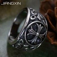 14.3g 925 Sterling Silver Crusader flower Ring Cross Vintage Jewelry for Men Women