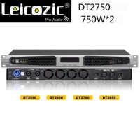 AMPLIFICADOR DE POTENCIA profesional Leicozic DT2750 Aduio 750w RMS 1200w 4ohms Clase d