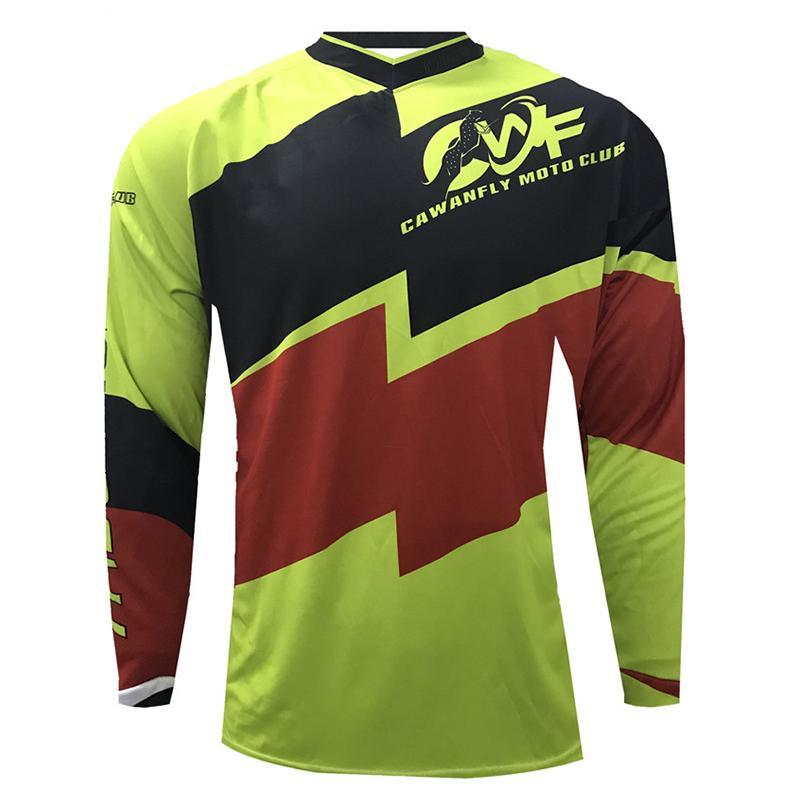 CAWANFLY Men Off Road Enduro Jersey Quick Dry Moto Racing Shirt Bicycle Bike Riding Apparel Motorcycle Jersey
