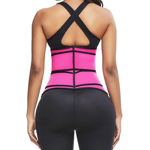 Waist Trainer Thermo Sweat Belt Waist Trainer Girdle Corset Women Tummy Body Shaper Shapewear Fat Burning Fitness Modeling Strap 2