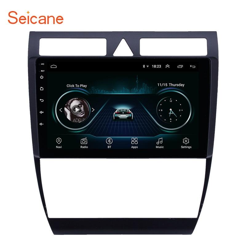 Seicane GPS автомобильное радио HD сенсорный экран 9 дюймов 2din Android 9,1 для Audi A6 S6 RS6 1997 1998  2004 WIFI AUX USB поддержка Carplay|Мультимедиаплеер для авто|   | АлиЭкспресс