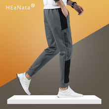 Jogger Pants for Men Cotton Patchwork Letter Print Sweatpants Fitted Tracksuit Sporty Pants Active Casual Trousers Hiphop Pant(China)
