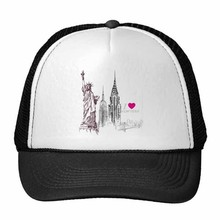 I Love New York Statue Of Liberty America  City Trucker Hat Baseball Cap Nylon Mesh Hat Cool Children Hat Adjustable Cap Gift cool hotels new york