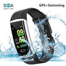 SMAWATCH B5 GPS nuoto braccialetto Smart Band IP68 Smartband impermeabile multi sport Bluetooth esterno 5.0 frequenza cardiaca Smart Band