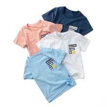 Новинка 2020 Детская футболка летняя хлопковая Футболка с мультяшным