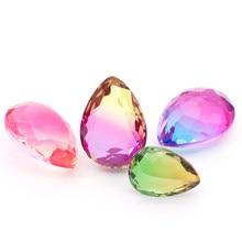XIAOPU Tear Drop Gradient Ramp Tourmaline Shining Loose Rhinestones K9 Glass Strass Crystal Glue on Jewelry Accessories Dress