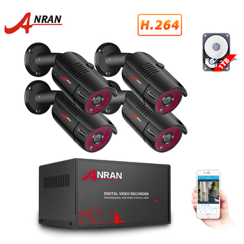 ANRAN 4CH CCTV System 4PCS 1080P Outdoor Weatherproof Security Camera AHD DVR Kit Day Night Home Video Surveillance System