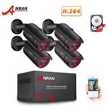ANRAN 4CH System CCTV 4 sztuk 1080P na zewnątrz wodoodporna kamera monitoringu AHD DVR zestaw dzień/noc wideo z domu System nadzoru