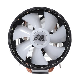 Hot SNOWMAN CPU Cooler, Three-Pin Mute Fan with Light, Down-Blowing Down-Press Desktop CPU Cooling Fan, Support /ADM image