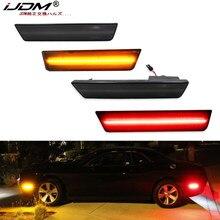IJDM voiture avant et arrière Sidemarker lampes ambre/rouge pour Dodge 2008-2014 Challenger & pour Dodge 11-14 chargeur DRL feux de position latéraux
